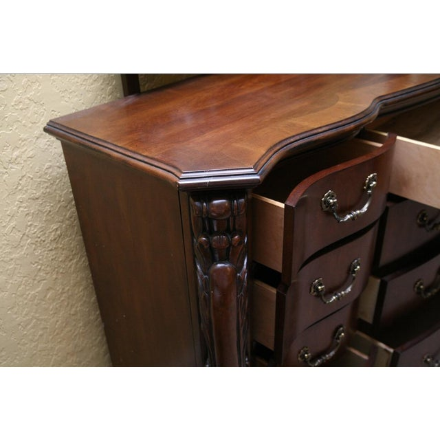 Contemporary Louis XV Style Dresser With Mirror - Image 3 of 9