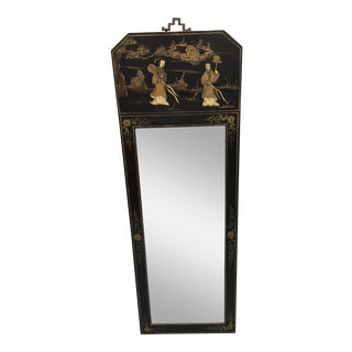 Black Japanned Giltwood Wall Mirror