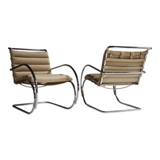 Pair of Mr Lounge Armchairs by Mies Van Der Rohe For Sale