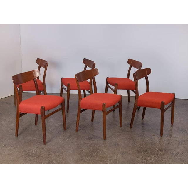 Danish Modern Set of Six Hans J. Wegner Ch-23 Dining Chairs For Sale - Image 3 of 11
