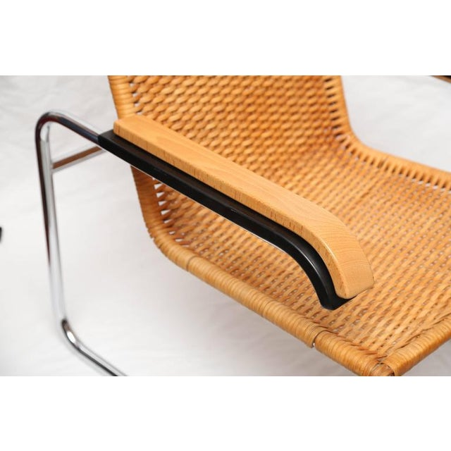 Marcel Breuer for Thonet B35 Rattan Lounge Chair with Changeable Armrests For Sale - Image 9 of 9