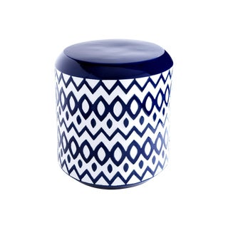 Cobalt Blue Ceramic Garden Stool For Sale