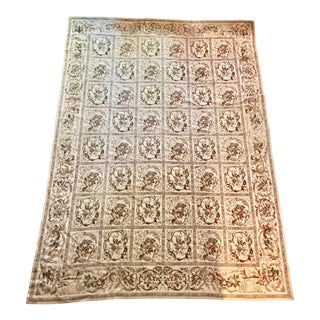 French Aubusson Needlepoint Rug - 8′6″ × 11′6″ For Sale