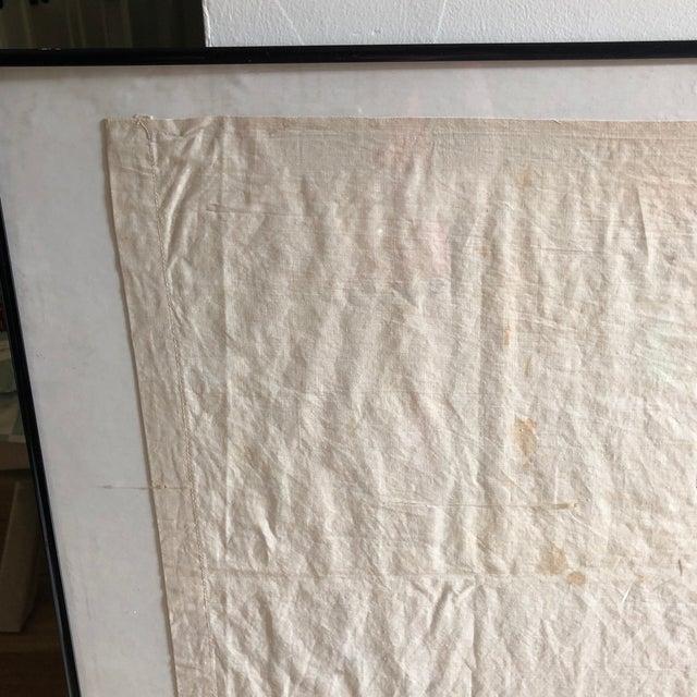 1920s Antique Framed Red Cross Flag For Sale - Image 5 of 12