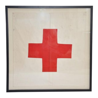 Vintage Framed Flag of England