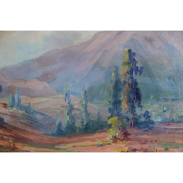 Martella Cone Lane -California Landscape -Oil Painting -Impressionist C.1920s For Sale - Image 7 of 9