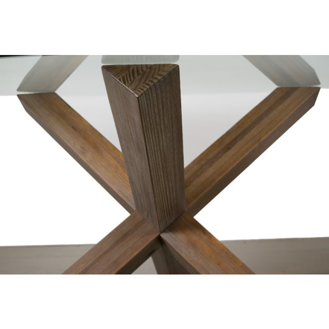 Sculptural Cerused White Oak Dining Table Attributed to Ralph Lauren - Image 10 of 11