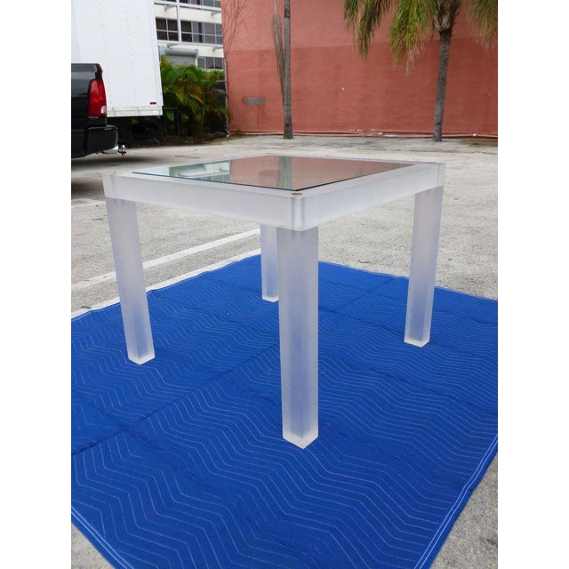 1970s 1970s Vintage Space Age Lucite Card Table For Sale - Image 5 of 12