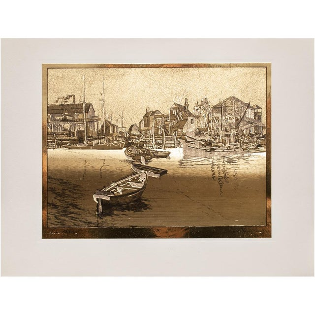 American Classical American Classical Gold-Etch Prints, Set of 4 For Sale - Image 3 of 13