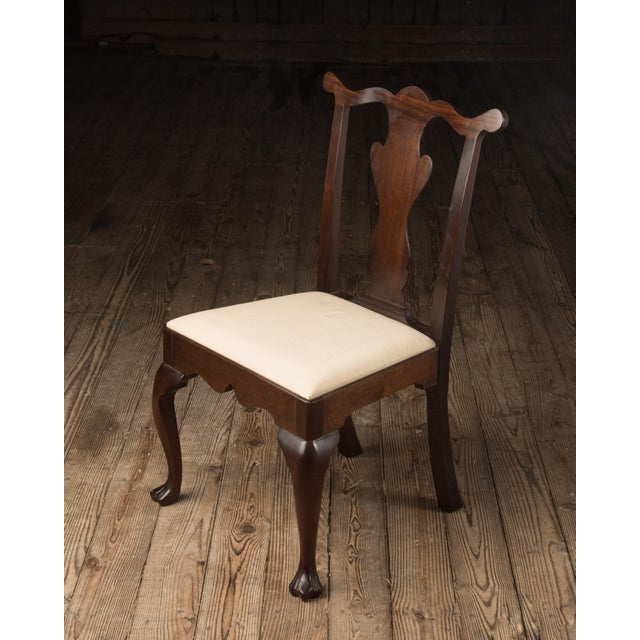1990s Vintage Madison Square Furniture Chippendale Style Mahogany Side Chair For Sale - Image 4 of 13