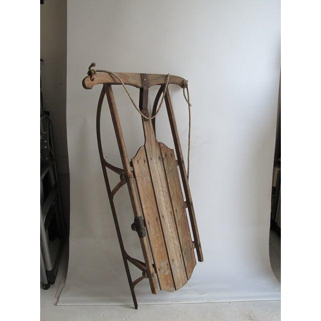 Vintage Wood and Metal Winter Sled - Image 3 of 6