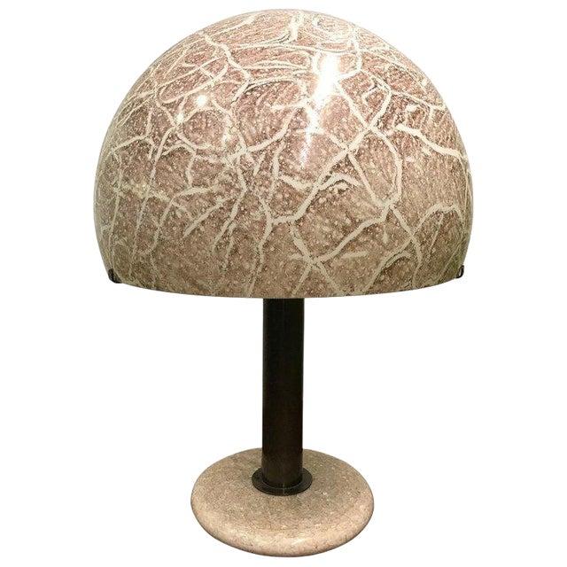 Pair Venini Glass Mushroom Lamps For Sale