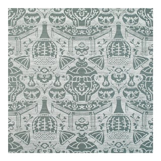 Clarence House Vase on Sisal Wallpaper For Sale