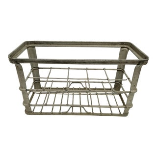 Vintage Belgian Zinc Bottle Carrier