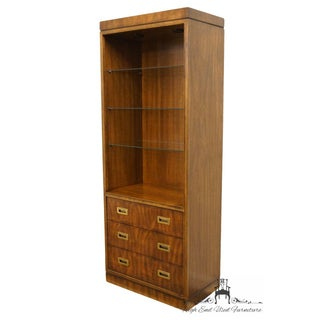 """Drexel Heritage Dynasty Collection Campaign Style 30"""" Bookcase Wall Unit 017-716 Preview"""
