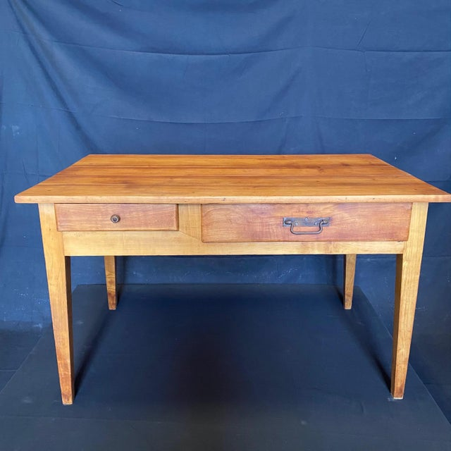 French 19th Century Natural Pine Desk For Sale - Image 11 of 11