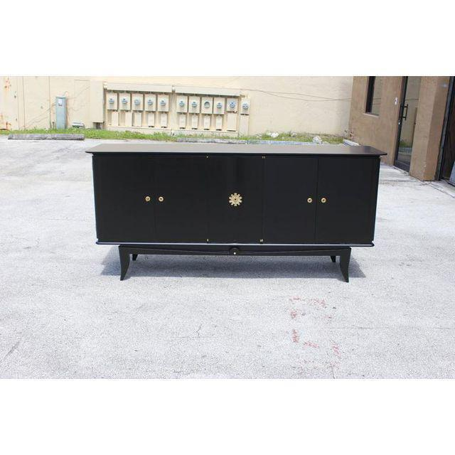 Beautiful Vintage French Art Deco Ebonized Sideboard / Buffet 1940s - Image 8 of 11