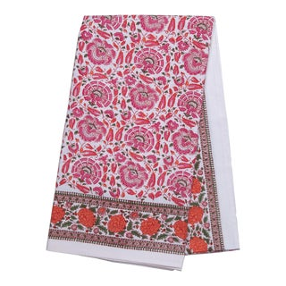 Riyad Tablecloth, 4-seat table - Pink & Orange For Sale