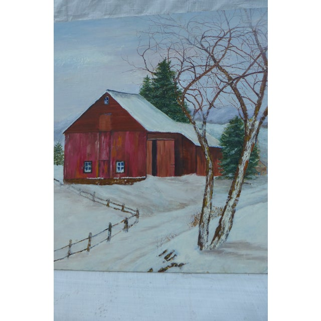 The Old Red Barn Painting by H.L. Musgrave For Sale - Image 4 of 6