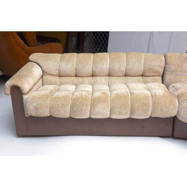 """White American Modern """"Bounty Group"""" Sectional Sofa, Pace Collection by Davanzati For Sale - Image 8 of 9"""