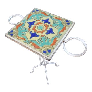 1920s Spanish D & M Tile Side Table For Sale