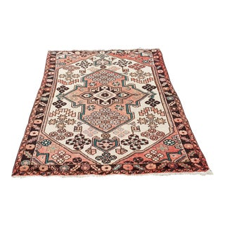Turkish Handmade Oushak Rug-3′6″ × 5′1″ For Sale