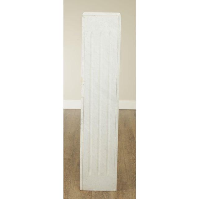 "Neoclassical Italian Carrara Marble 56"" Column Pedestal For Sale - Image 3 of 13"