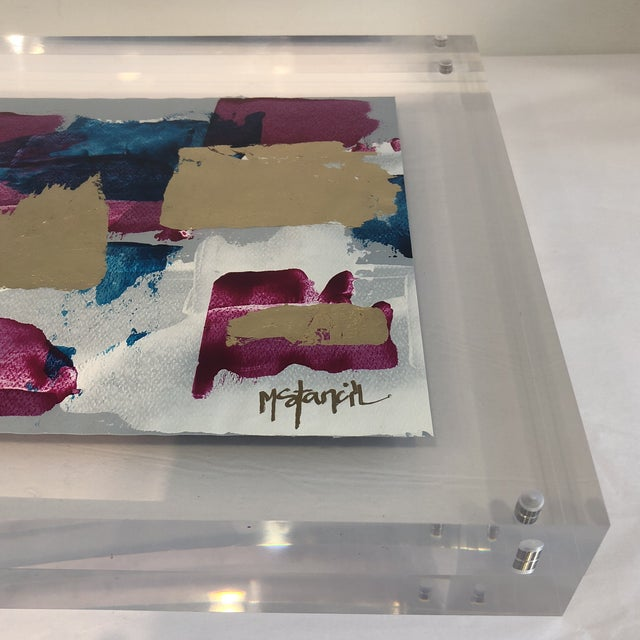 Original Art Floating in Lucite For Sale In Atlanta - Image 6 of 11