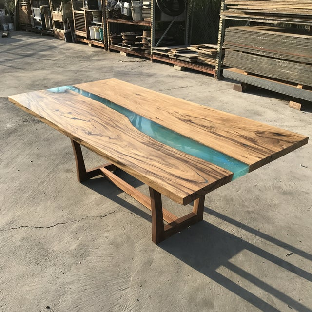 Wood & Resin River Table For Sale In San Diego - Image 6 of 11