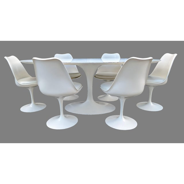 Mid-Century Modern Vintage Eero Saarinen for Knoll Tulip Dining Set - 7 Pieces For Sale - Image 3 of 13