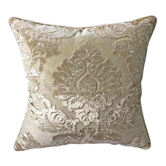 New! Stark Scalamandre Panne Velvet Sheer Overlay Pillow ~ Down Feather Insert Included. For Sale