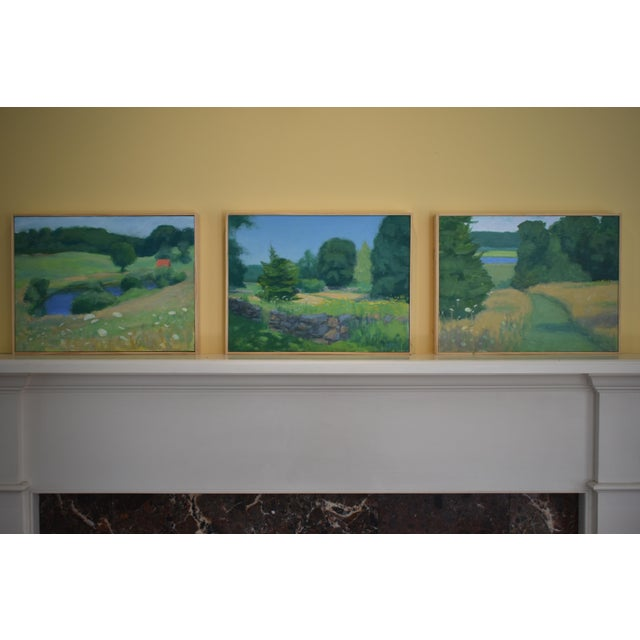 Pastoral Plein Air Contemporary Paintings by Stephen Remick - Set of 3 For Sale - Image 13 of 13
