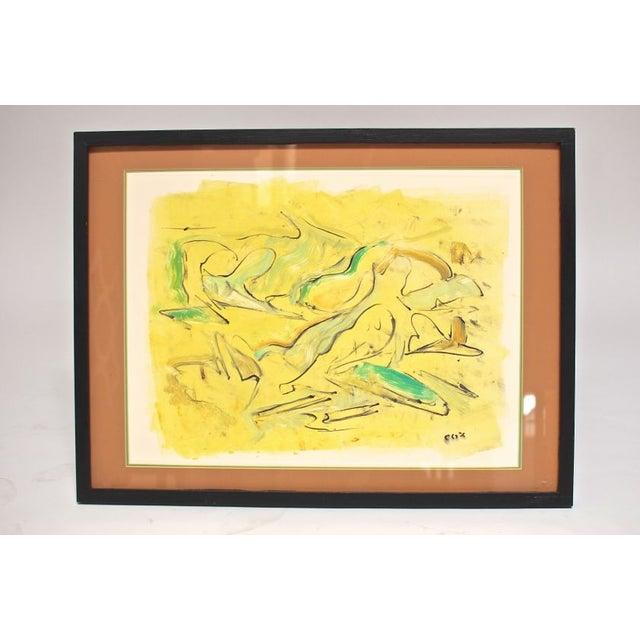 "Allan Cox Asian Mono Print ""Tidal Confluence"" - Image 2 of 4"