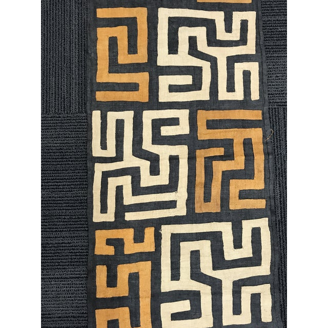 African Art Handwoven Kuba Cloth For Sale - Image 5 of 10