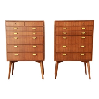 Helmut Magg for Wk Möbel Bachelor Chests - a Pair For Sale