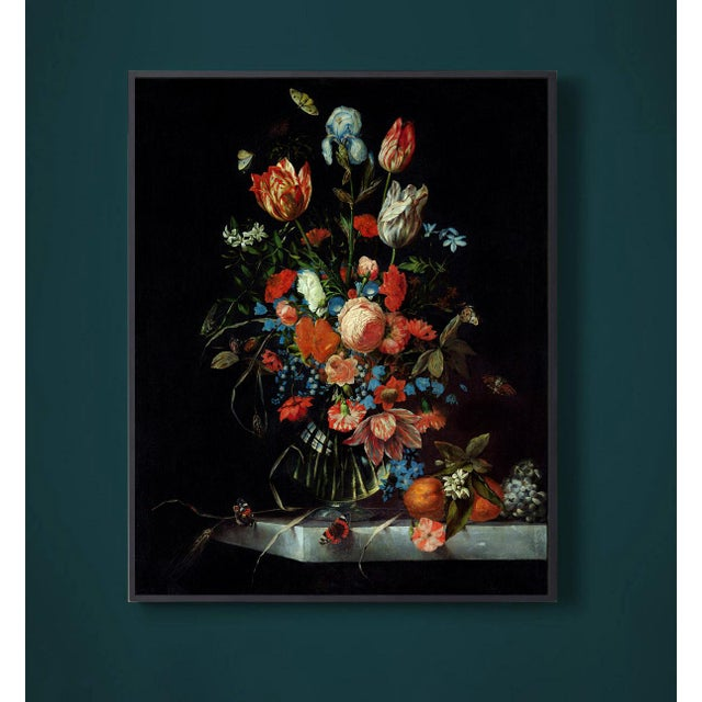Not Yet Made - Made To Order Ottmar Elliger Dutch Still Life With Flowers From 1673 Unframed Giclée on Paper For Sale - Image 5 of 8