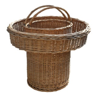 Mid-Century Wicker Storage Basket