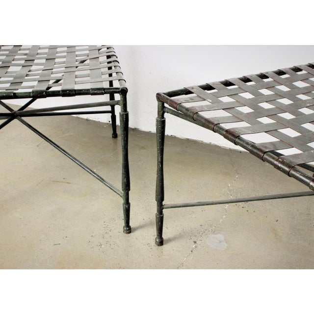 John Salterini Architectural Iron Benches - A Pair - Image 4 of 5