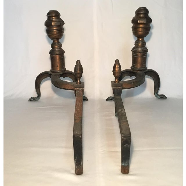 1920s Pair of Bronze Andirons - Circa 1920s For Sale - Image 5 of 13