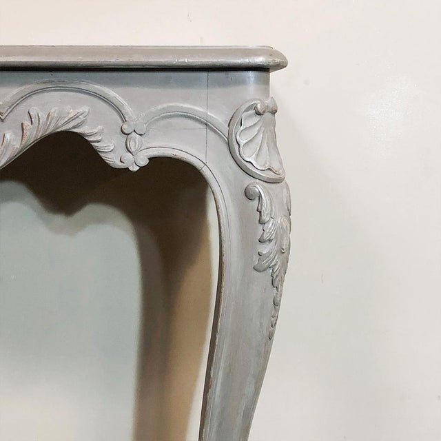 Pair 19th Century French Louis XV Painted Consoles For Sale - Image 11 of 13