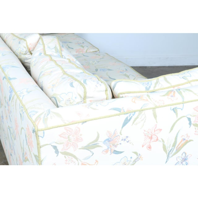 Mid-Century Modern Floral Sofa - Image 7 of 10