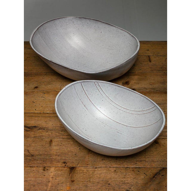 1960s Rare Set of Two Ceramic Bowls by Alessio Tasca For Sale - Image 5 of 5