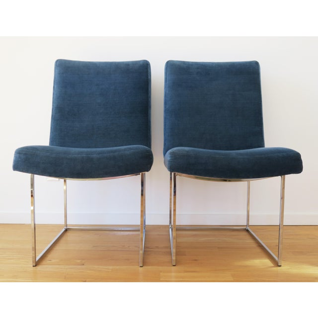 Metal Mid-Century Milo Baughman for Thayer Coggin Rosewood Table and Dining Chairs Set For Sale - Image 7 of 10