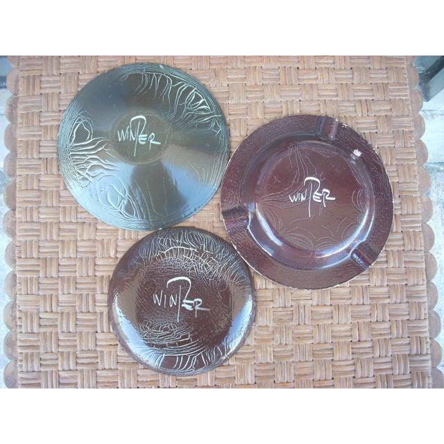 Enamel on Copper Plates - Set of 3 - Image 7 of 7
