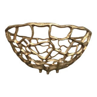 Gold Meteor Decorative Bowl For Sale