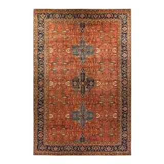 One-Of-A-Kind Oriental Serapi Hand-Knotted Area Rug, Brick, 11' 8 X 17' 8 For Sale