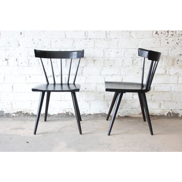 Set of Eight Paul McCobb Ebonized Planner Group Dining Chairs For Sale - Image 13 of 13