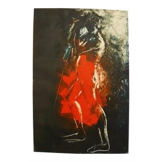 Mono Print of a Shepherd For Sale
