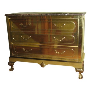 Vintage Harden Furniture Brass Chest For Sale