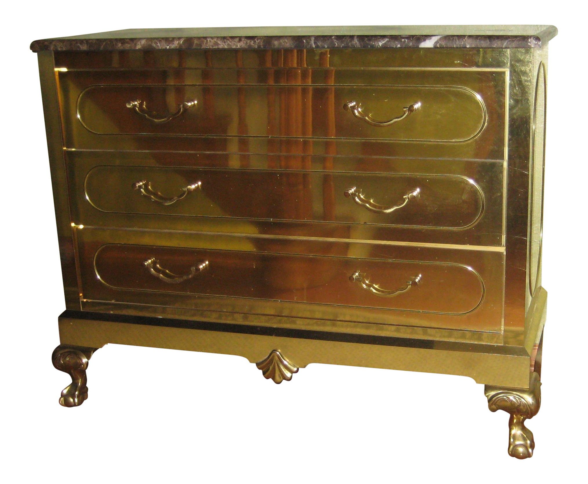 Vintage Harden Furniture Brass Chest